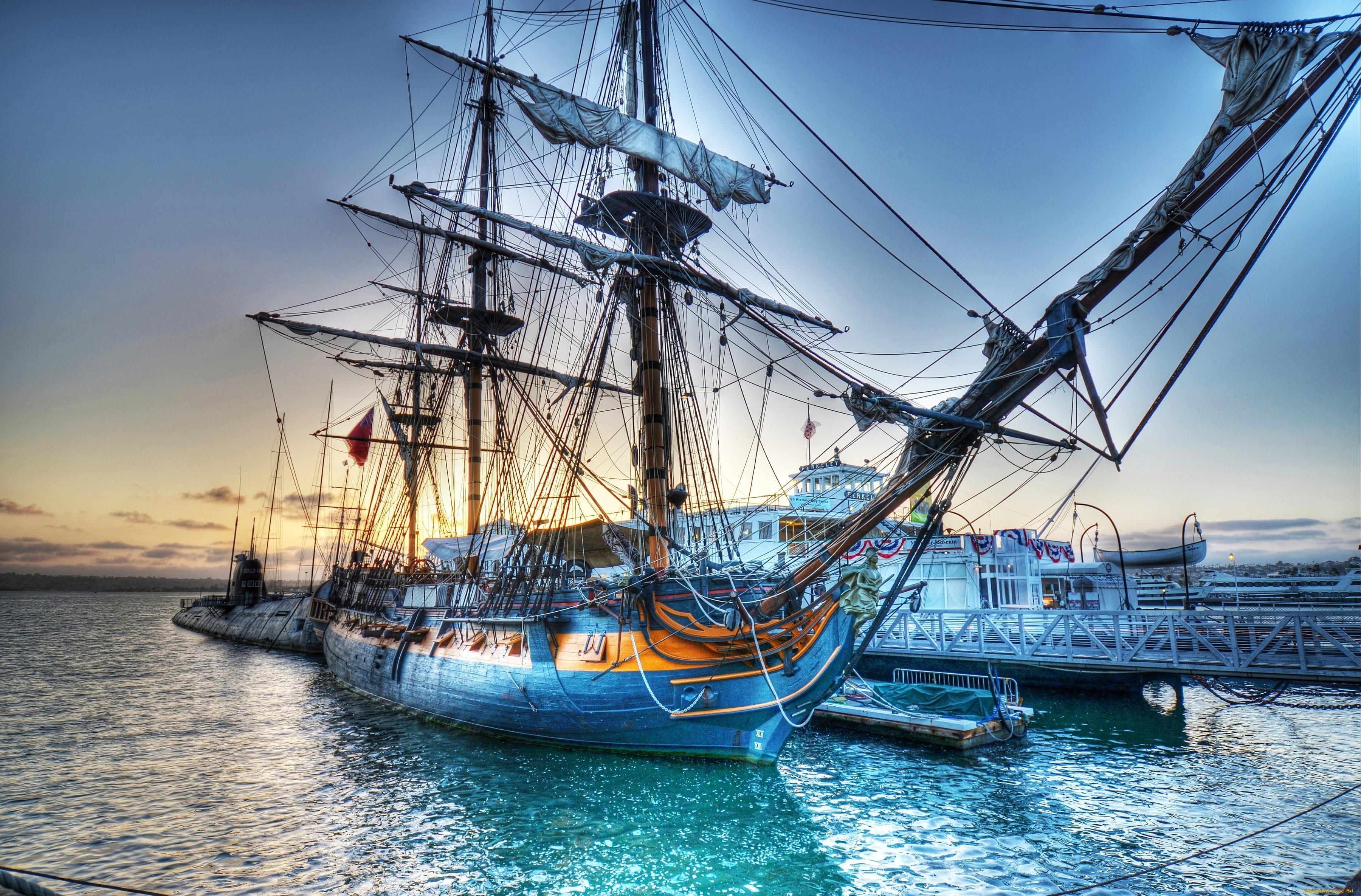 парусные корабли картинки высокого разрешения простой